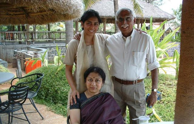 Yamuna with parents