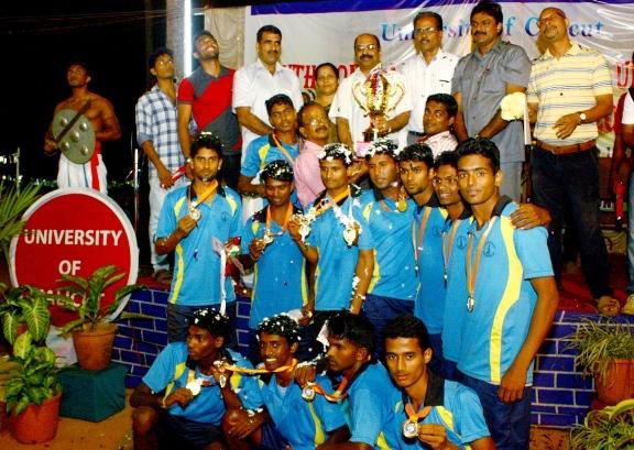 All India Inter University Kho Kho Champion-Calicut with Trophi 2