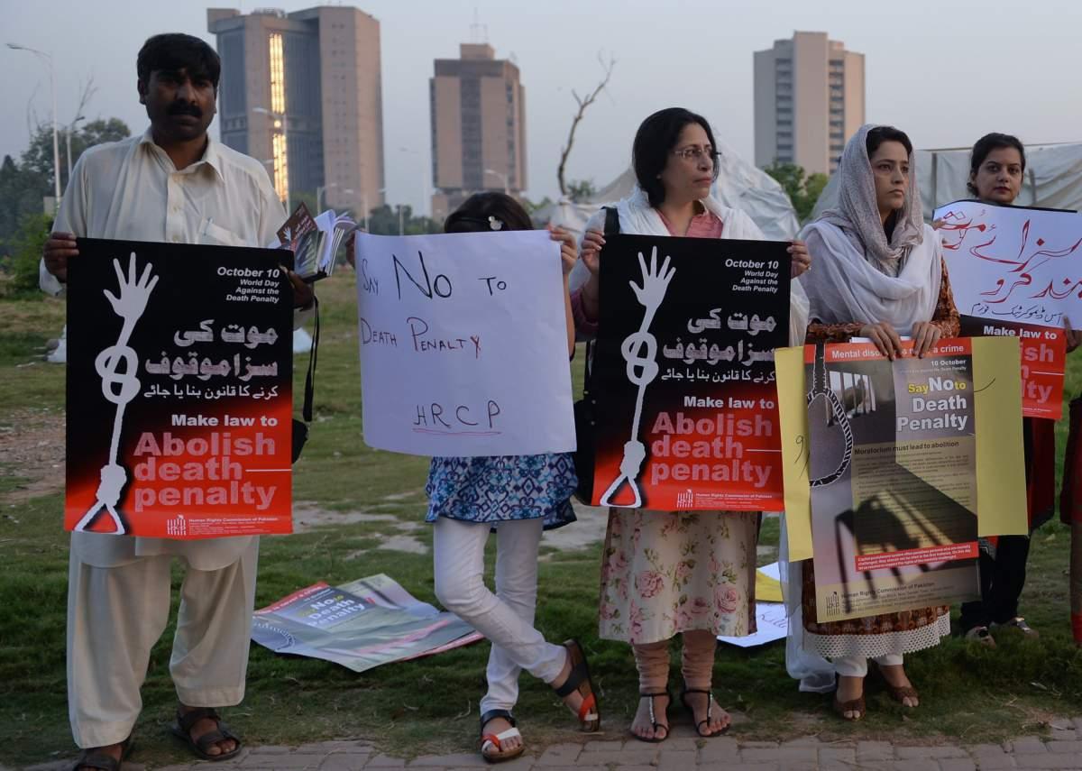 PAKISTAN-CRIME-EXECUTION-PROTEST