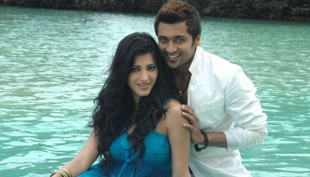 Shruti Haasan And Surya Looking At Camera