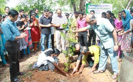University-World Environment Day Celebration-PVC K.Ravindranath planting Tree in the University Campus-1