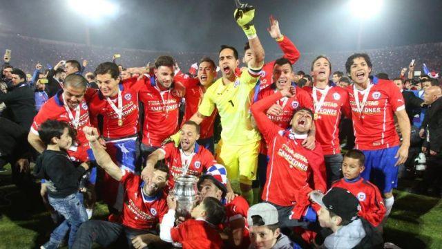 Chile Soccer Copa America Chile Argentina-1