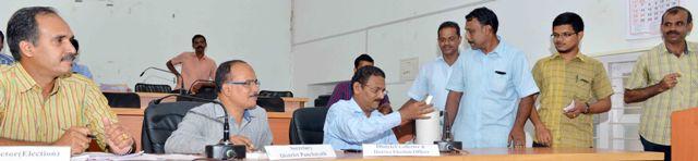 Jilla Panjayath reservation ward counting at collectorate conferance hall