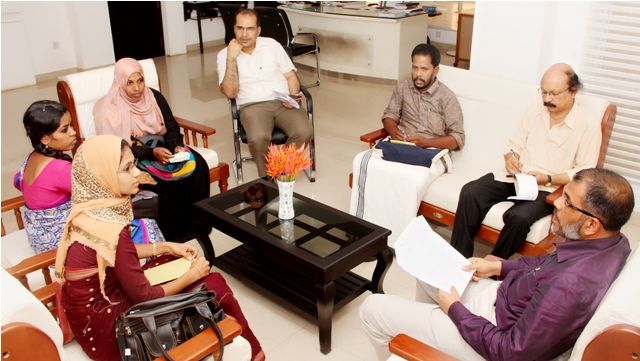University VC Dr.K.Mohammed Basheer discussing various issues with various Panchayath Presidents