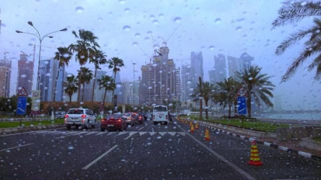 raining qatar