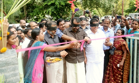 University-Speaker P.Sreeramakrishnan inaugurates Touch & Feel Garden-4