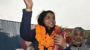 സാക്ഷി മാലികിന് ഡല്ഹിയില് ഉജ്ജ്വല വരവേല്പ്പ്