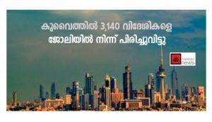 കുവൈത്തില് 3,140 വിദേശികളെ ജോലിയില് നിന്ന് പിരിച്ചുവിട്ടു